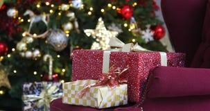 背景圣诞节新年度 股票视频