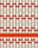 背景圣诞节无缝刀叉餐具的模式 库存图片