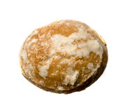 背景圣诞节曲奇饼姜饼例证查出的白色 从a的看法 库存照片