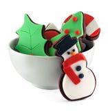 背景圣诞节曲奇饼查出白色 库存照片