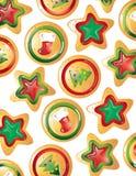 背景圣诞节曲奇饼 免版税库存图片