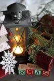 背景圣诞节构成的节假日场面 2007个看板卡招呼的新年好 图库摄影