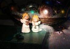 背景圣诞节构成的节假日场面 2007个看板卡招呼的新年好 库存照片