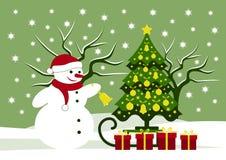 背景圣诞节构成的节假日场面 免版税库存图片