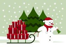 背景圣诞节构成的节假日场面 库存图片