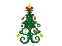 背景圣诞节查出的玩具结构树白色 库存照片