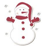背景圣诞节查出的雪人白色 免版税库存图片