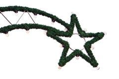 背景圣诞节照明白色 免版税库存照片