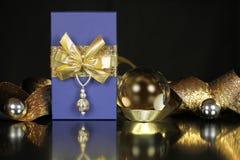 背景圣诞节礼物 免版税库存照片