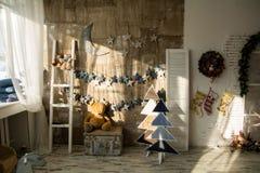 背景圣诞节神仙墙壁 免版税库存照片