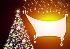 背景圣诞节空间文本 皇族释放例证