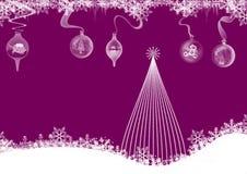 背景圣诞节紫色 向量例证