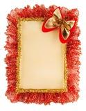 背景圣诞节纸张丝带 免版税图库摄影