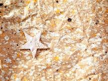 背景圣诞节纸张回收星形 库存照片
