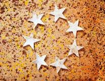 背景圣诞节纸张回收星形 免版税库存照片