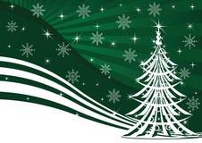 背景圣诞节绿色结构树 皇族释放例证