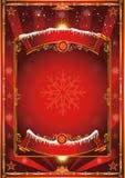 背景圣诞节老纸袋装的葡萄酒 免版税库存图片