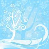 背景圣诞节花卉向量 库存照片
