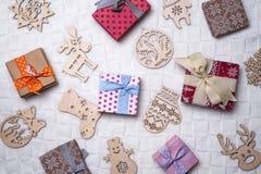 背景圣诞节装饰例证向量 免版税库存图片