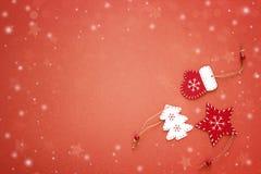 背景圣诞节装饰例证红色向量 文本的空间 免版税库存图片