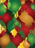 背景圣诞节装饰品模式 免版税库存图片