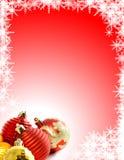 背景圣诞节装饰品 图库摄影