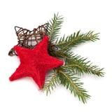 背景圣诞节装饰查出的白色 库存图片