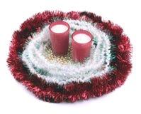 背景圣诞节装饰查出的白色 免版税库存照片
