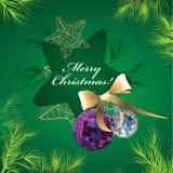 背景圣诞节装饰绿色例证向量 库存例证