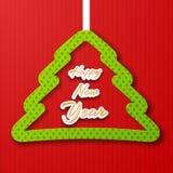 背景圣诞节计算机生成的愉快的图象快活的新的向量年 库存例证
