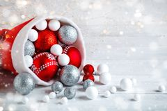 背景圣诞节设计例证冬天 新年` s玩具 圣诞节愉快的快活的新年度 免版税图库摄影