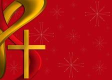 背景圣诞节金子红色宗教 库存照片