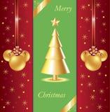 背景圣诞节金黄结构树 库存图片