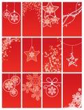 背景圣诞节集 免版税库存照片