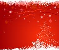 背景圣诞节雪花结构树ve 库存例证