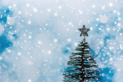 背景圣诞节雪结构树 库存照片