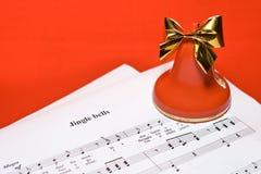 背景圣诞节音乐 免版税库存图片