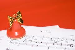 背景圣诞节音乐 免版税库存照片