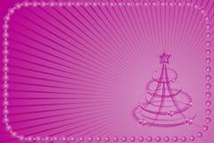 背景圣诞节风格化结构树向量 库存图片