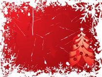 背景圣诞节grunge向量 免版税库存图片