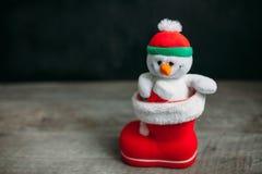 背景圣诞节hoiday模式无缝的雪人纹理 启动红色 免版税库存照片