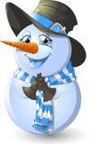 背景圣诞节hoiday模式无缝的雪人纹理 库存照片