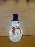 背景圣诞节hoiday模式无缝的雪人纹理 免版税库存照片