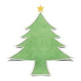 背景圣诞节papercraft被回收的结构树 免版税库存图片