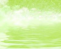 在梦想的反射绿色 皇族释放例证