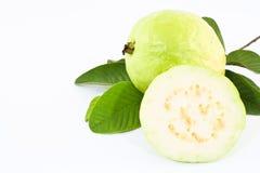 背景在白色的果子番石榴 库存图片