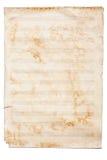 背景在纸页白色的查出的音乐 图库摄影
