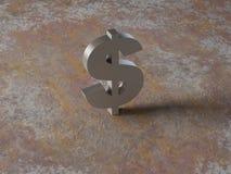 背景在铁锈的美元金属 图库摄影