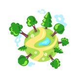背景地球充分的行星星形 森林eco商标 免版税库存照片
