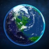 背景地球充分的行星星形 从空间的看法 向量例证